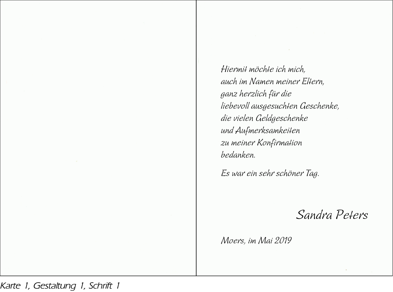 Karte Konfirmation.Paperado Weiß Konfirmation